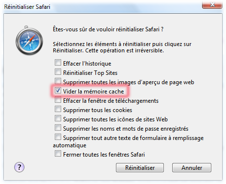 Come pulire la cache del browser S210