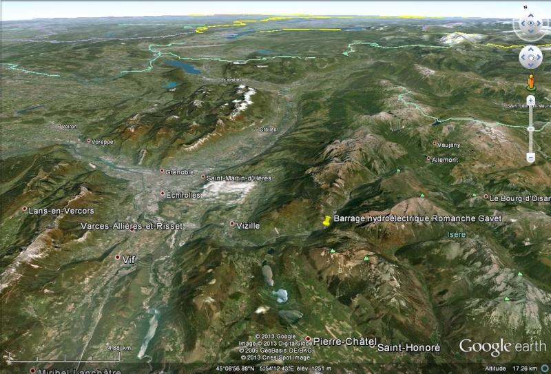 [Désormais visible sur Google Earth] - Le barrage hydroélectrique de Gavet sur la Romanche - Isère Sans_210