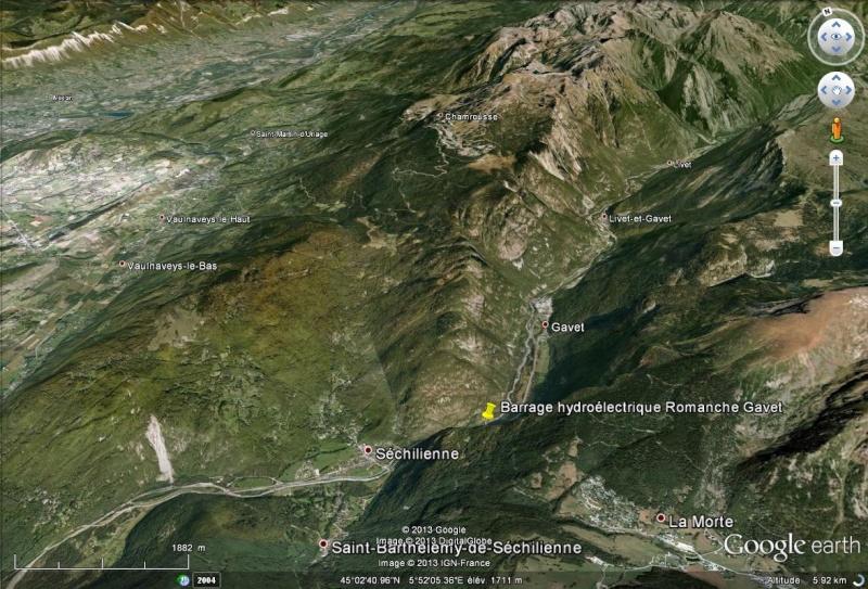 [Désormais visible sur Google Earth] - Le barrage hydroélectrique de Gavet sur la Romanche - Isère Sans_211