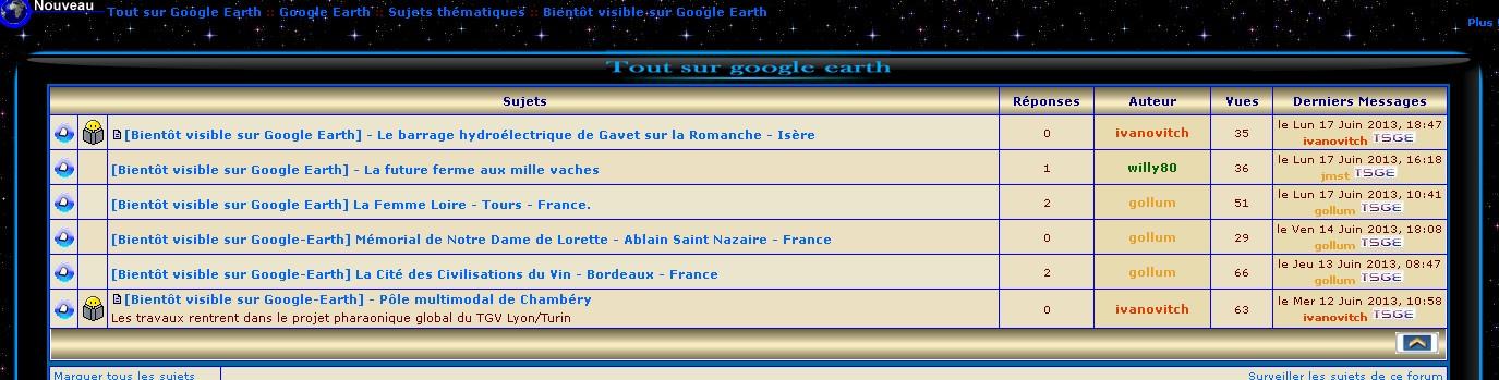 """[Bientôt visible sur Google-Earth] - Une nouvelle rubrique dans les """"sujets thématiques"""" Sans_226"""