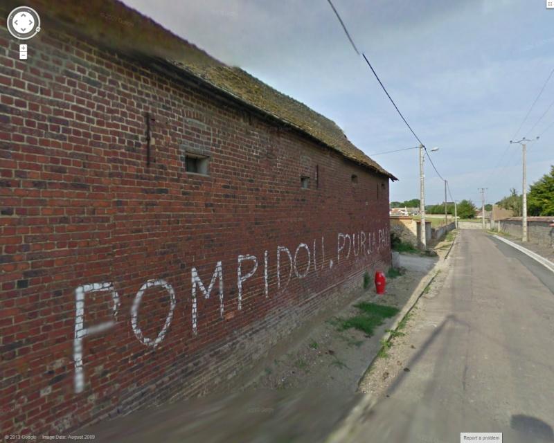 STREET VIEW : les graffitis vus de la Google Car Pompid10
