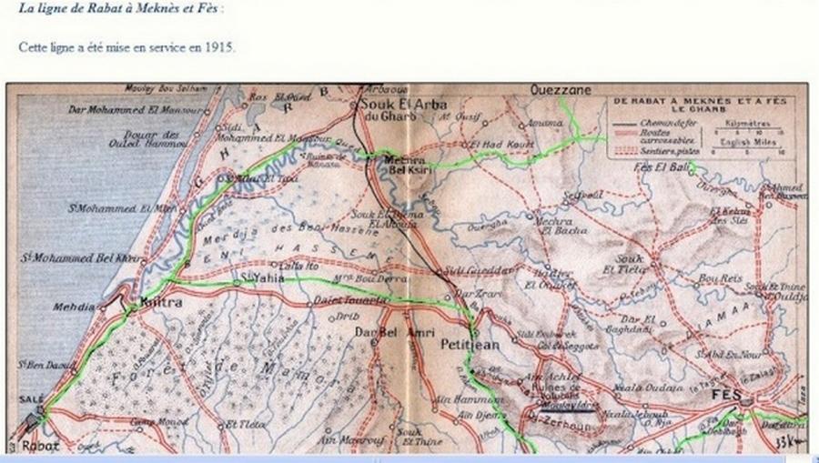 Transports CFM, Gares et Affiches du Maroc Plan_a10