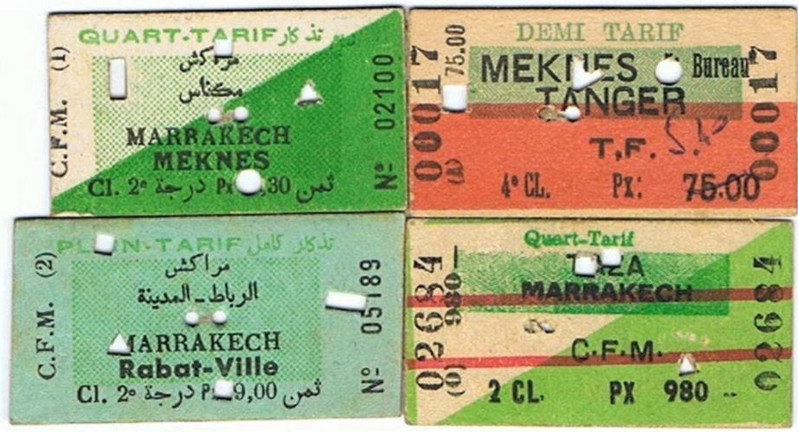 Transports CFM, Gares et Affiches du Maroc - Page 23 Ticket10
