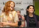 Les acteurs font la promo du DVD Rachel15