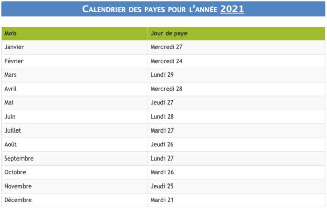Dates des virements du salaire 2021 et comment calculer son salaire + indemnités de jury d'examen Captu111