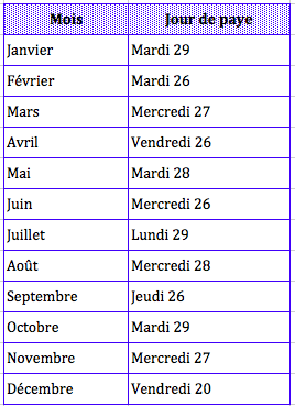 Salaire Enseignant Calendrier.Calendrier Paye Enseignant