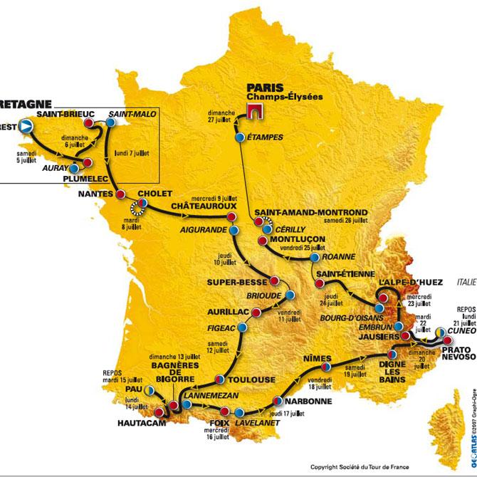 carte tour de France 11935410