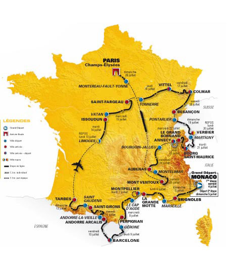 carte tour de France Carte10