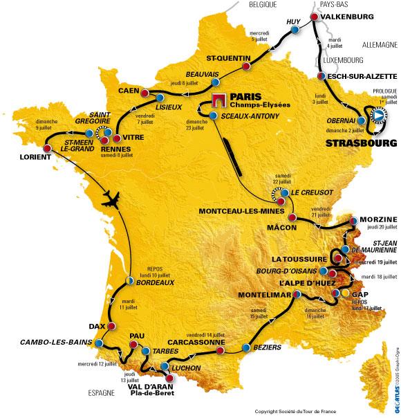 carte tour de France Carte_11