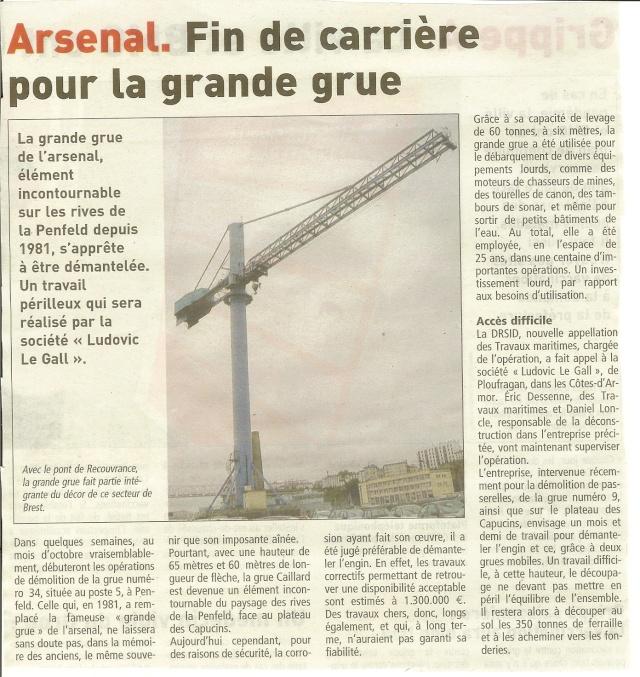 [Les ports militaires de métropole] Port de Brest - Page 3 Grue10
