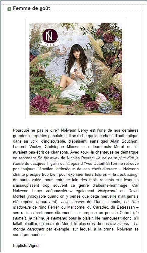 """Critiques de l'album """"folk"""" Vignol10"""