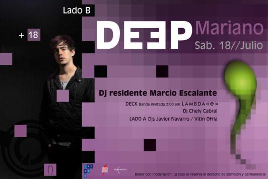 DEEP MARIANO + Lambda (e) - LADO B Aqua (SAB 18 JUL) Deep_m12