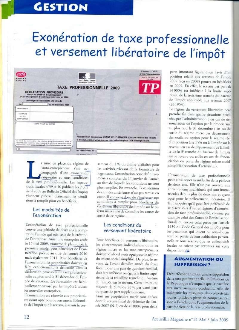 exonération de la taxe pro et versement libératoire de l'impôt Taxe_p10
