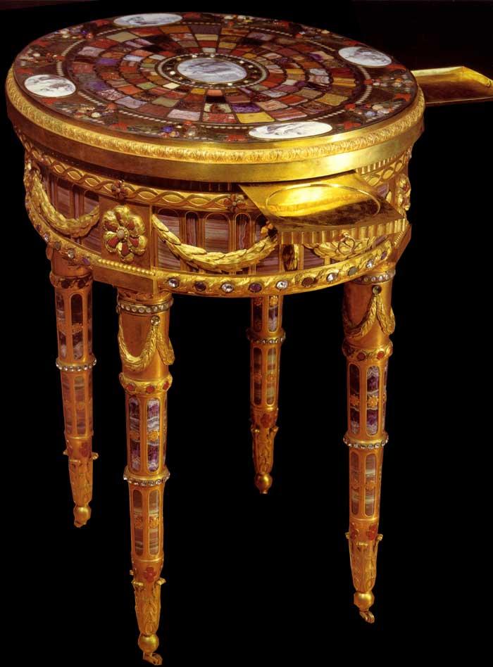 Visite du Comte chez le Baron de Breteuil Table710