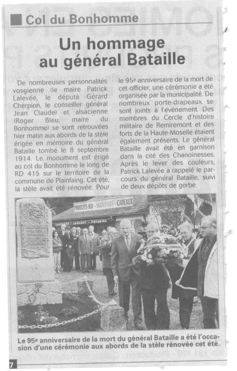 CEREMONIE GENERAL BATAILLE, COL DU BONHOMME, les photos Photo_10