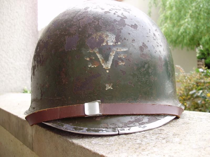 RARE CASQUE US M1 D'UN CAPITAINE DU 1er RCP 1944 P4140011