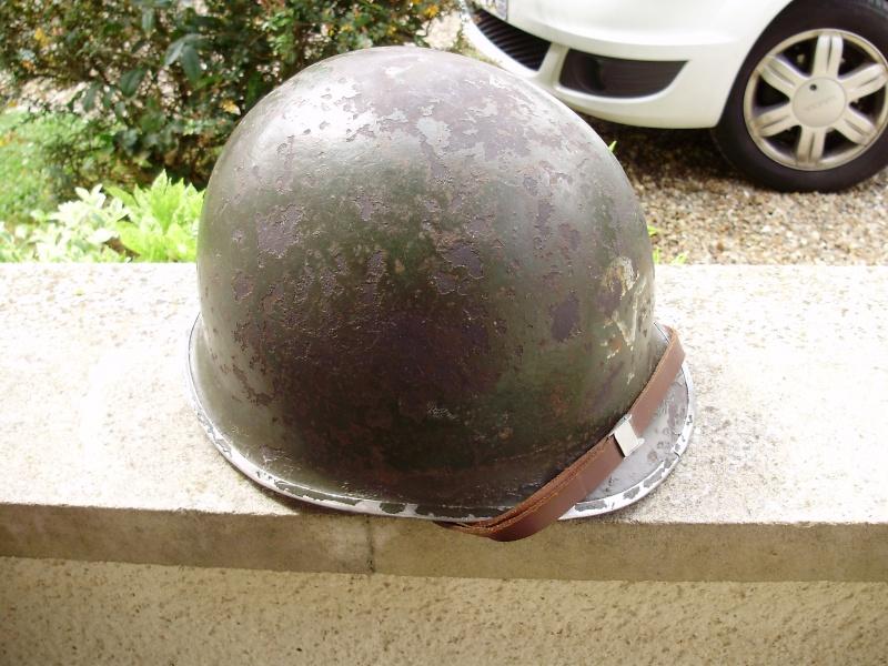RARE CASQUE US M1 D'UN CAPITAINE DU 1er RCP 1944 P4140012