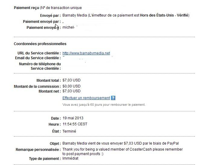 another fast payment Coaste14
