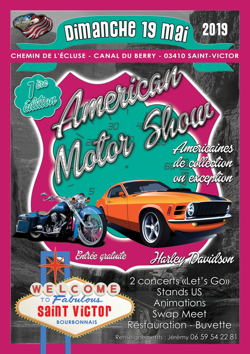 AMERICAN MOTOR SHOW 19 mai 2019 St Victor (03) Affich10