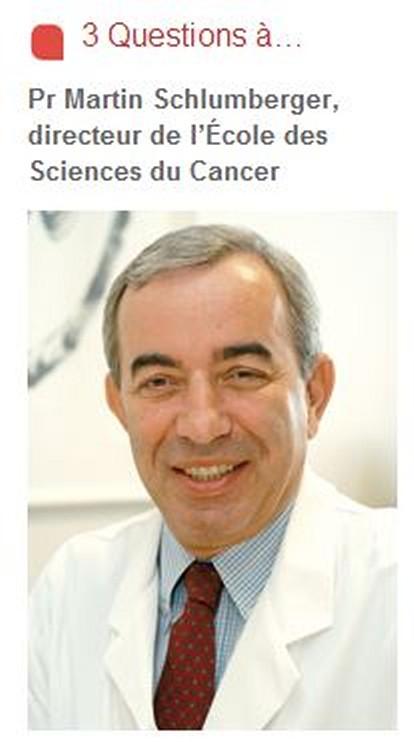 Le Professeur Schlumberger de l'IGR de Villejuif - École des Sciences du Cancer Captur14