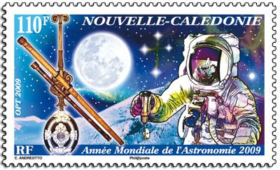 Astrophilatélie : 2 timbres français sur les 40 ans Apollo 11 13090110