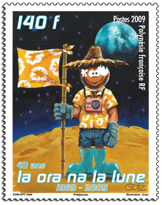 Astrophilatélie : 2 timbres français sur les 40 ans Apollo 11 13092110