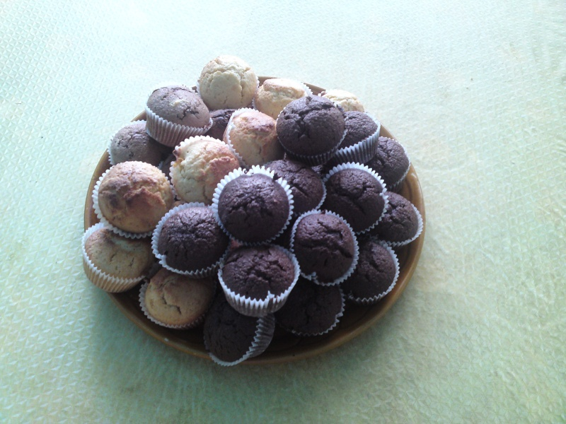 Muffins a ma façon ( vanille, cacao et chocolat ) P23-0810