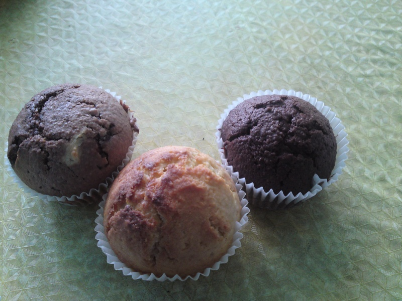 Muffins a ma façon ( vanille, cacao et chocolat ) P23-0811