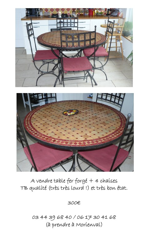 On vend notre table de cuisine Table10