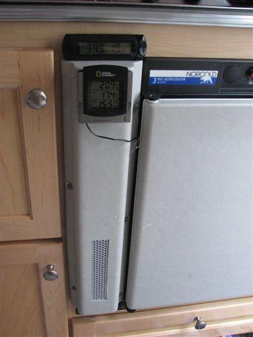 température du frigo (thermomètre et ventilateur) Tb_24310
