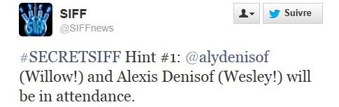 Aly & Alexis assistent à la première d'un film tenu secret 13-05-12
