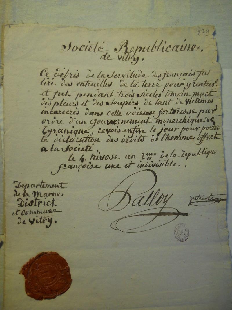 Palloy et le mythe de la Bastille - Page 11 Palloy92