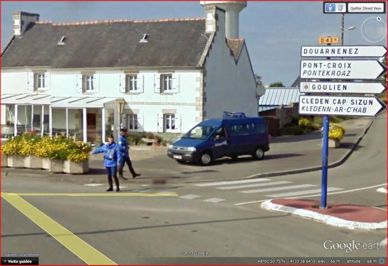STREET VIEW : Google car arrêtée par la Gendarmerie Arret_10