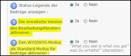 [Update] Neuer Editor in den Forumieren Foren Aufze310