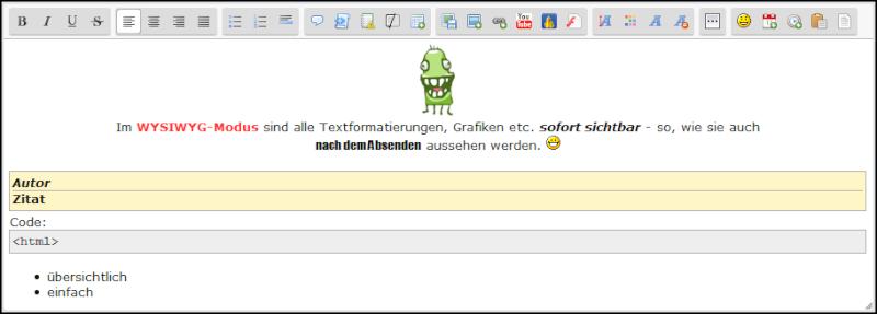 [Update] Neuer Editor in den Forumieren Foren Update10