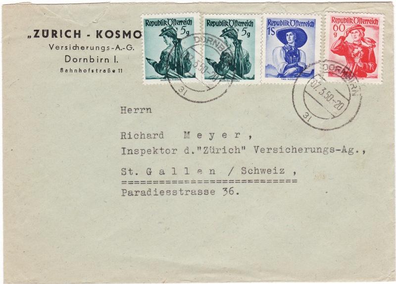 trachten - Trachtenserien ANK 887 - 923 und 1052 - 1072 Belege Img12
