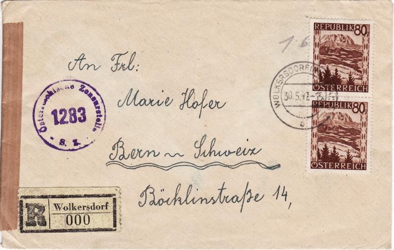 Landschaftsbilder ANK 738-766  -  Belege Schw10