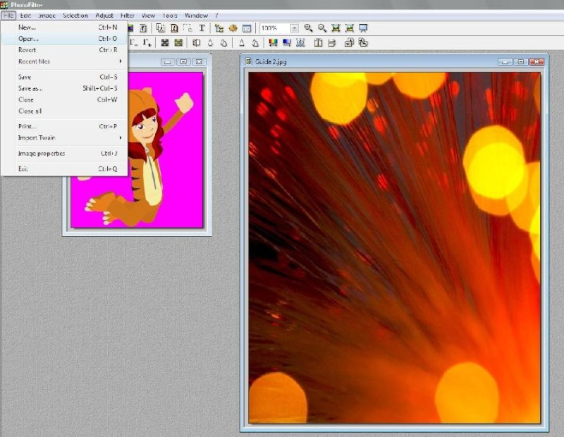 How to add a background with Photofiltre Tutori11
