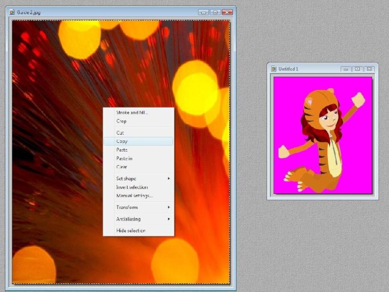 How to add a background with Photofiltre Tutori14