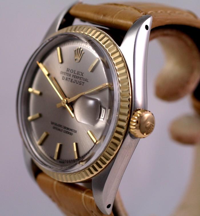 (Vendue) Rolex Datejust cadran steel   Réf: 1601 Img_3022