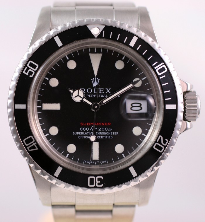 (Vendue) Rolex Submariner date écriture rouge  Réf:  1680 Img_3224