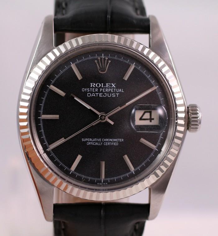 (Vendue) Rolex Datejust  cadran anthracite  Réf: 1601 Img_3510