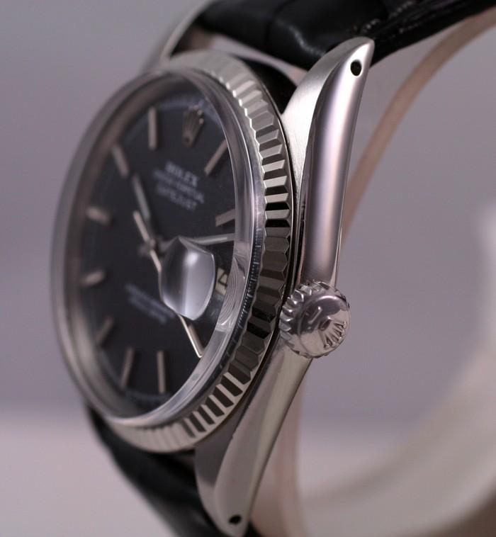 (Vendue) Rolex Datejust  cadran anthracite  Réf: 1601 Img_3513