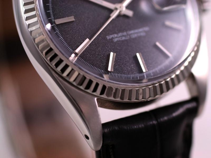 (Vendue) Rolex Datejust  cadran anthracite  Réf: 1601 Img_3516