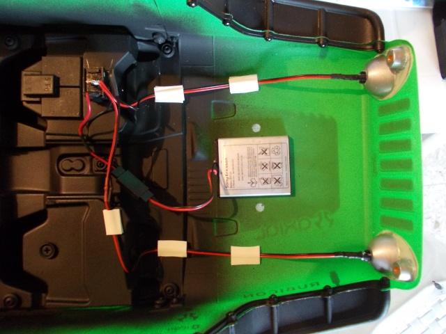Luces led alimentadas con batería de teléfono movil W610
