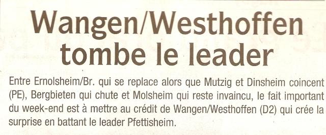 L e FC Wangen Westhoffen Numar180