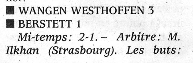 L e FC Wangen Westhoffen Numar189