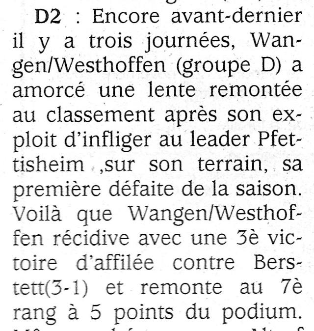 L e FC Wangen Westhoffen Numar191