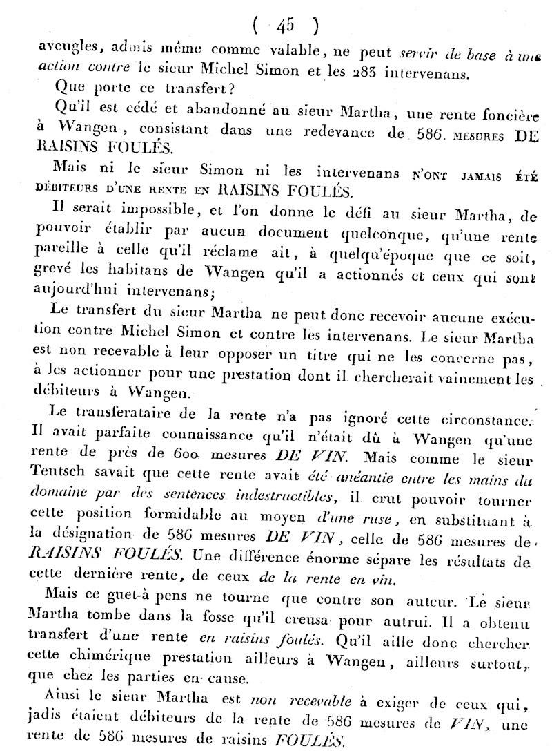 Mémoire d'un procès qui fit couler beaucoup de vin...à Wangen Numari39