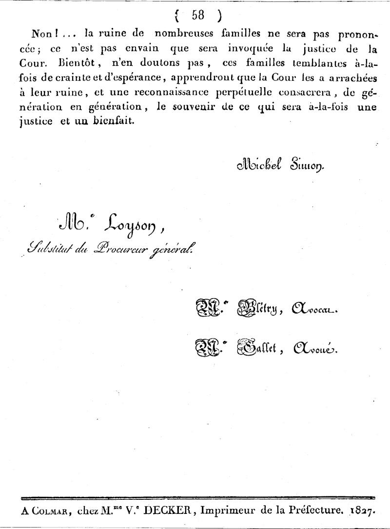 Mémoire d'un procès qui fit couler beaucoup de vin...à Wangen Numari56